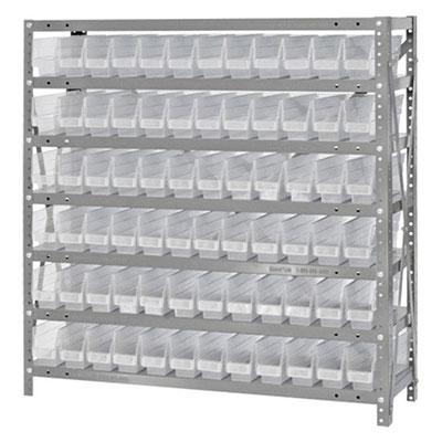 Quantum Clear-View Shelf Bin - Complete Steel Packages 1239-100CL