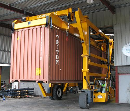 Combilift Moving Containers Fully Loaded