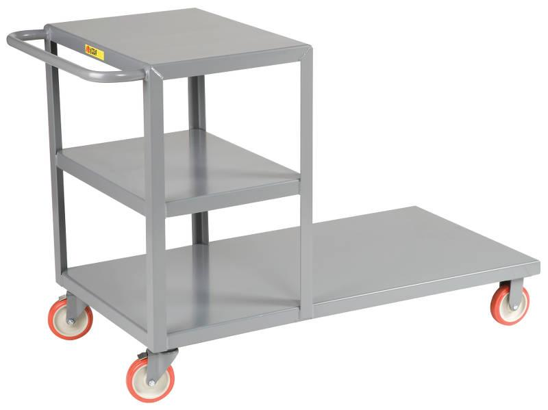 Little Giant Combo Cart Combination Shelf and Platform Truck Model No. CC-2448-5PYBK