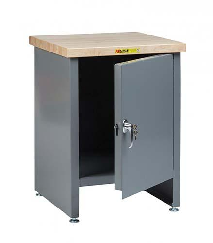Compact Work Center Cabinet with Locking Door