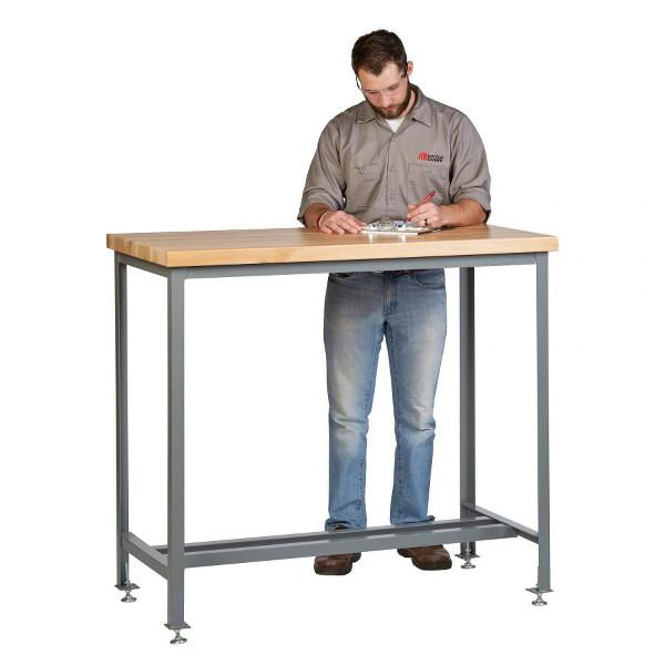 Little Giant Counter Height Work Table with Butcher Block Top