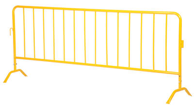 Yellow Interlocking Crowd Control Barriers