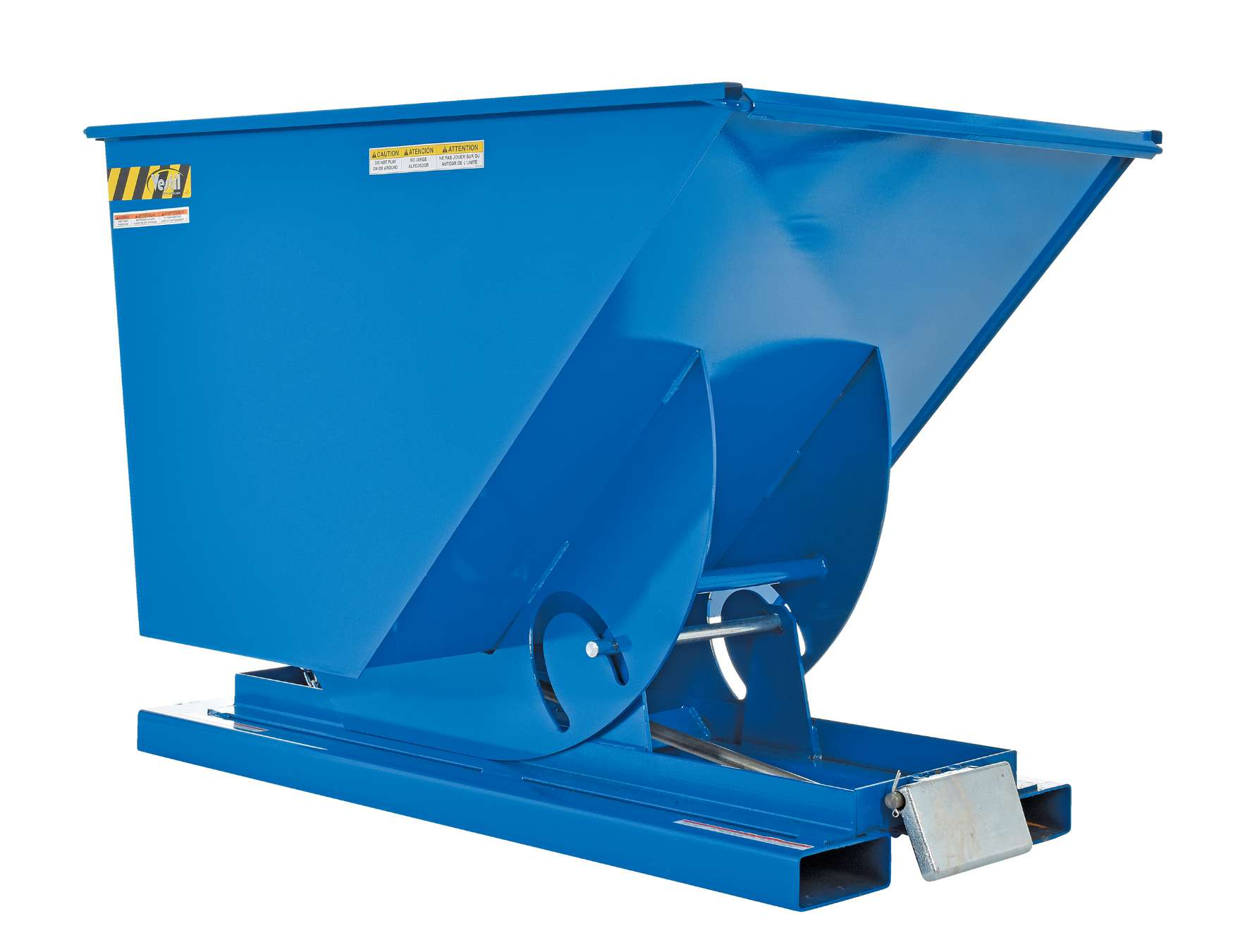 Vestil 1 Yard Self-Dumping Steel Hopper With Bumper Release, Model D-100-LD