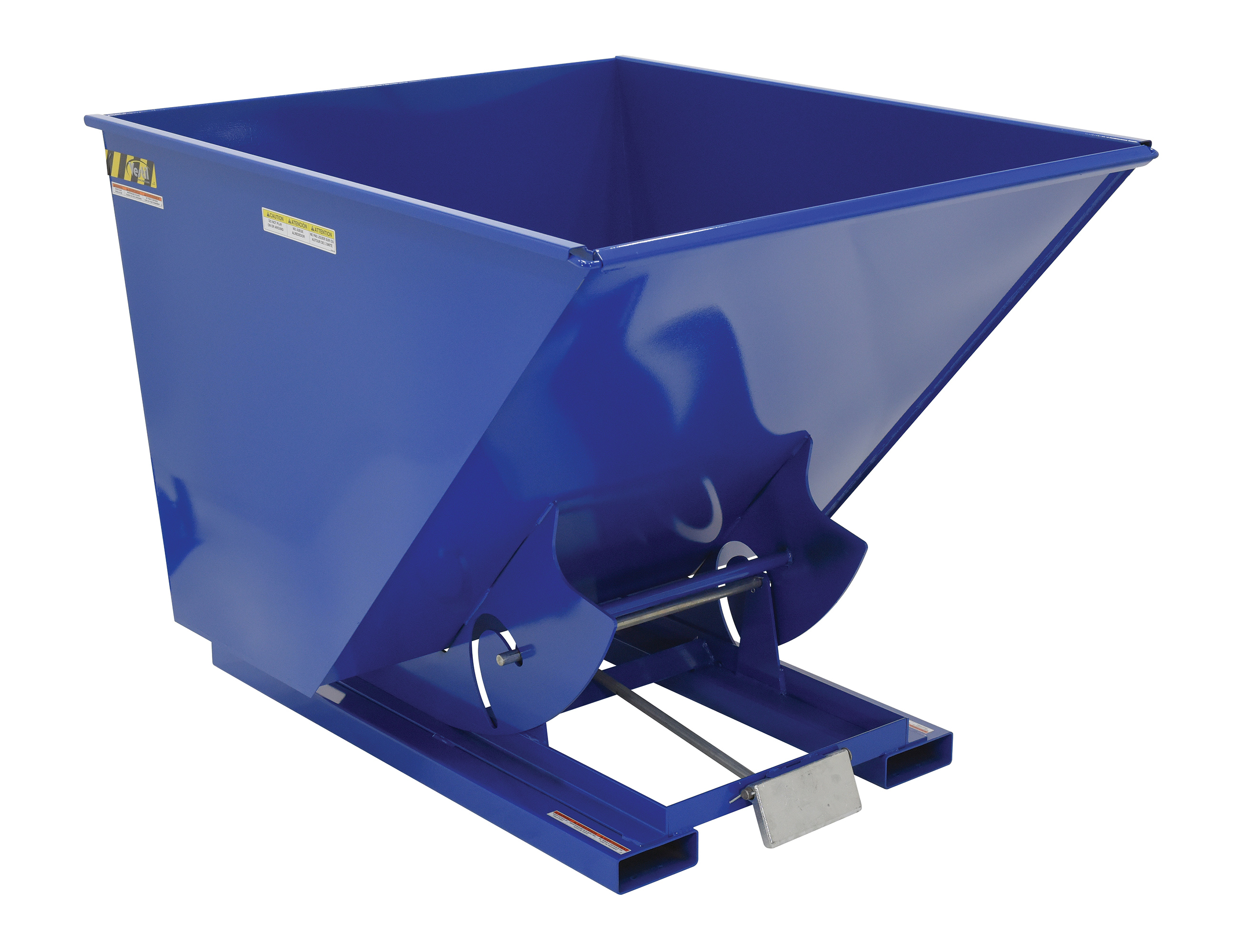 Vestil 2 Yard Self-Dumping Steel Hopper With Bumper Release, Model D-200-HD