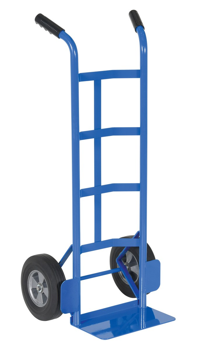 "Vestil Steel Dual Handle Hand Truck with 10"" x 2-1/2"" Solid Rubber Wheels"