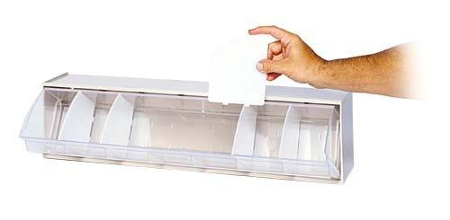 Quantum DIV400 4-Pack Clear Dividers for Dividable Tip Out Bins