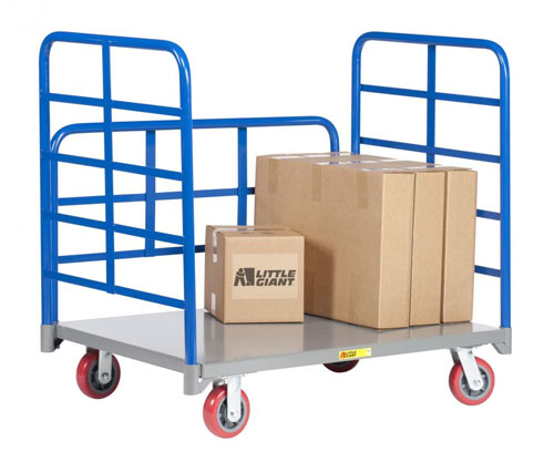 Little Giant Double End Rack Platform Truck with Side Rack