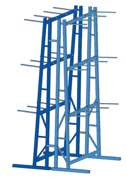Stromberg Double Sided Vertical Storage Racks