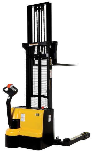 Vestil Double Mast Stacker with Powered Drive and Powered Lift Model No. S3-125-AA
