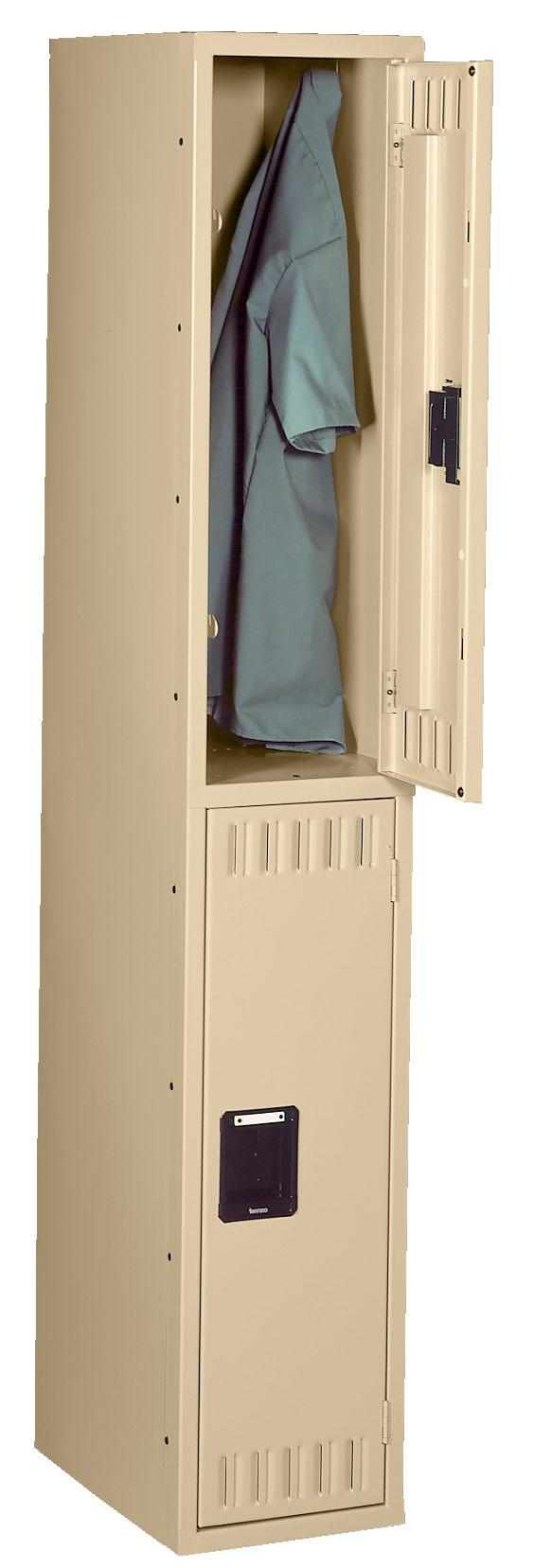 Double Tier Lockers Without Legs - 2 Openings