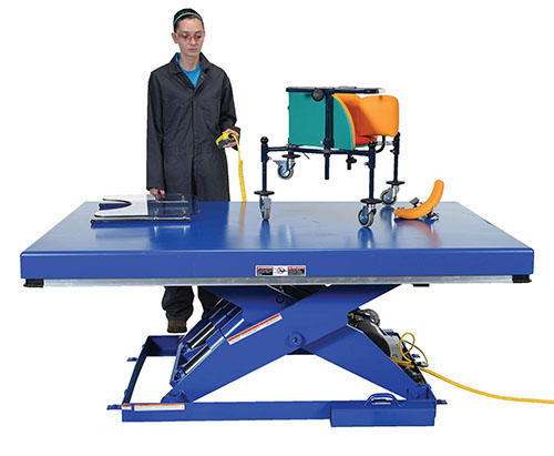 Electric Hydraulic Scissor Lift Tables 5000 lbs Capacity - Standard Ship