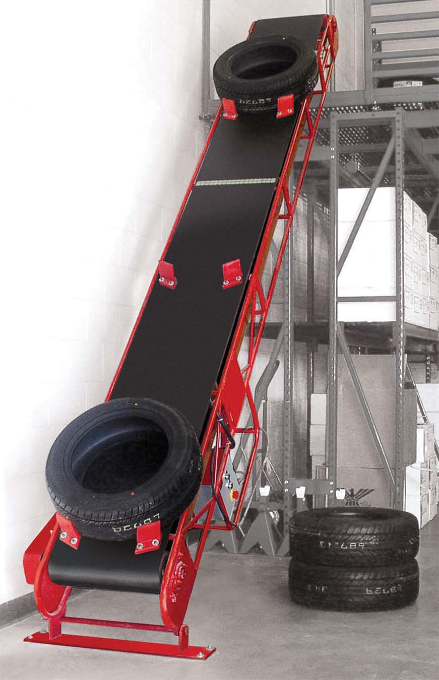 E-ZLIFT Floor to Floor Tire Handling Conveyors