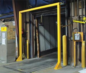 Vestil Economical Overhead Door Warning Barriers