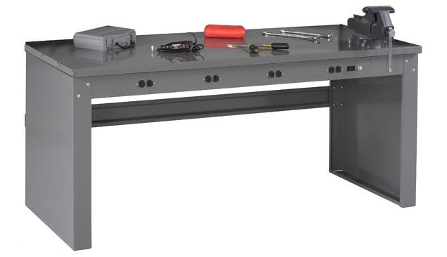 Tennsco Electronic Workbench - Steel Top