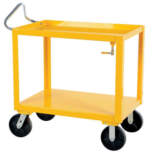 Vestil Ergo-Handle Cart with Drain Model No. DH-PH4-2436-D