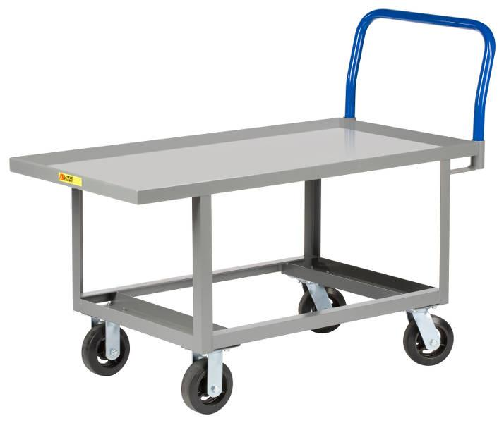 Little Giant Work Height Platform Truck with Open Base - Lip Edge Deck - Model No. RNL-2448-6MR