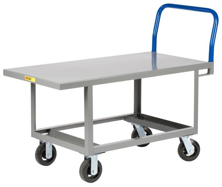 Little Giant Work Height Platform Truck with Open Base - Steel Deck - Model No. RNB-2448-6MR