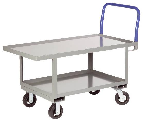 Little Giant Work Height Platform Truck with Lower Shelf - Lip Edge Deck