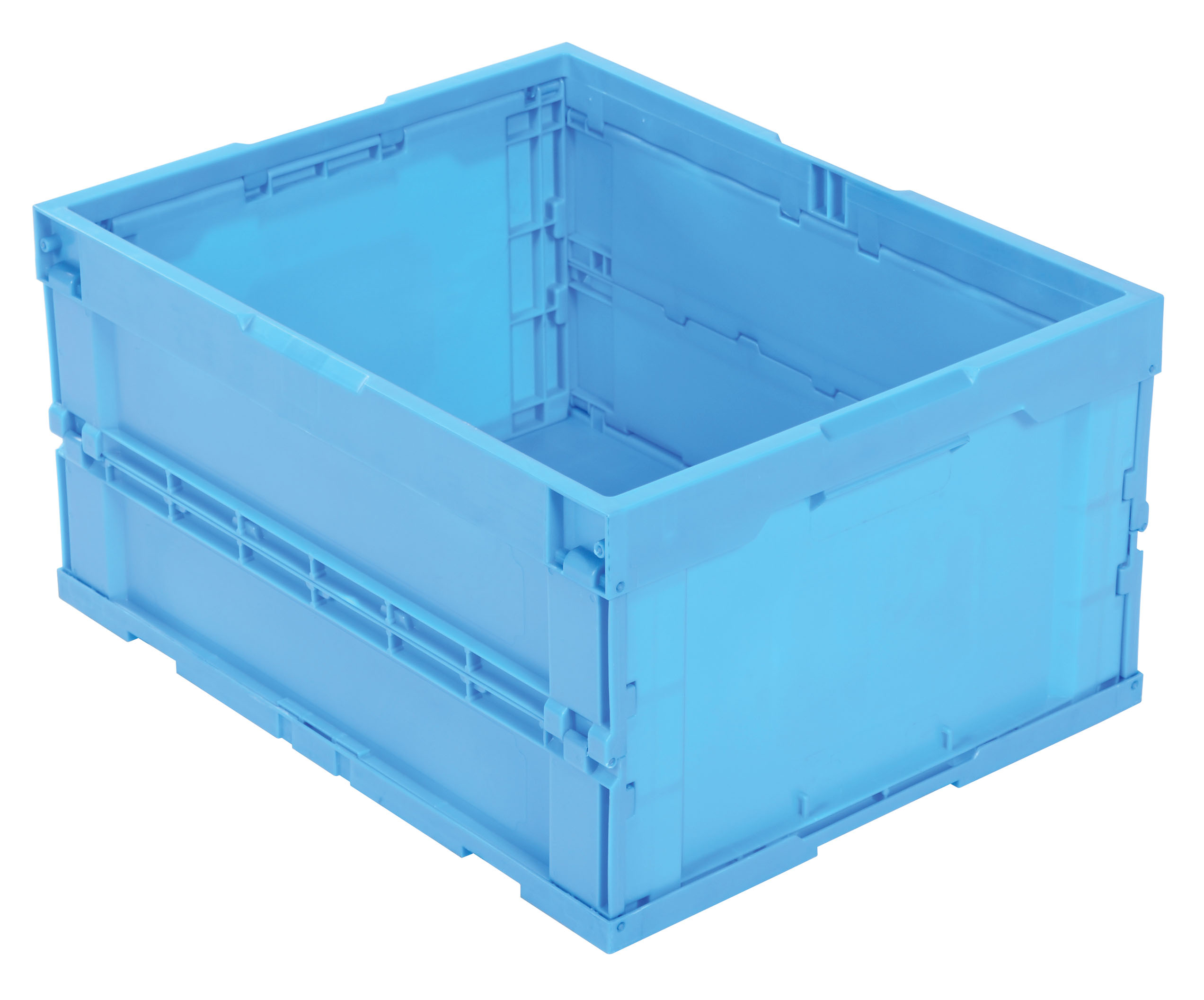 Vestil F-CRATE Folding Plastic Container