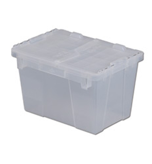 Lewis FP06 Attached Lid Container Clear