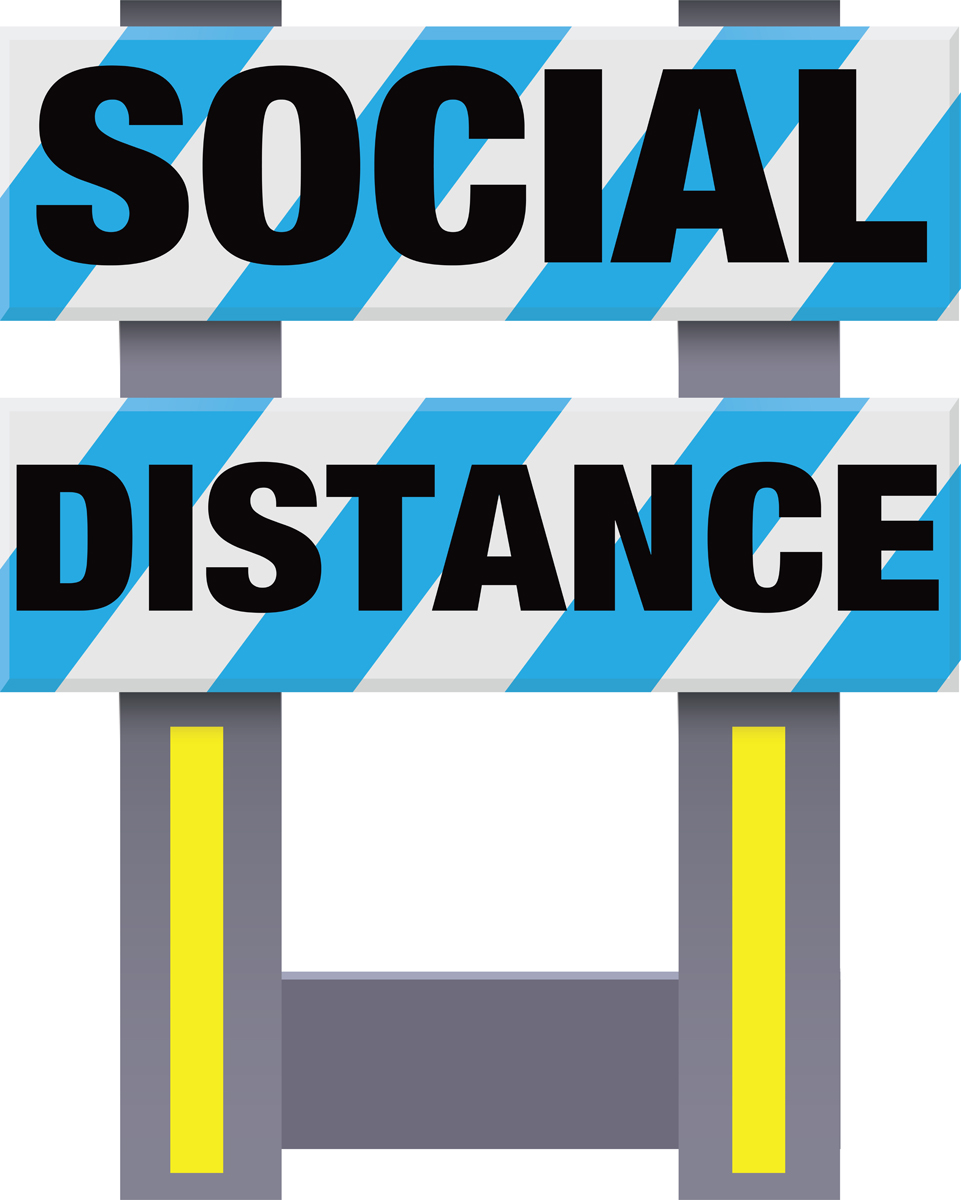 Folding Safety Barricade Social Distance