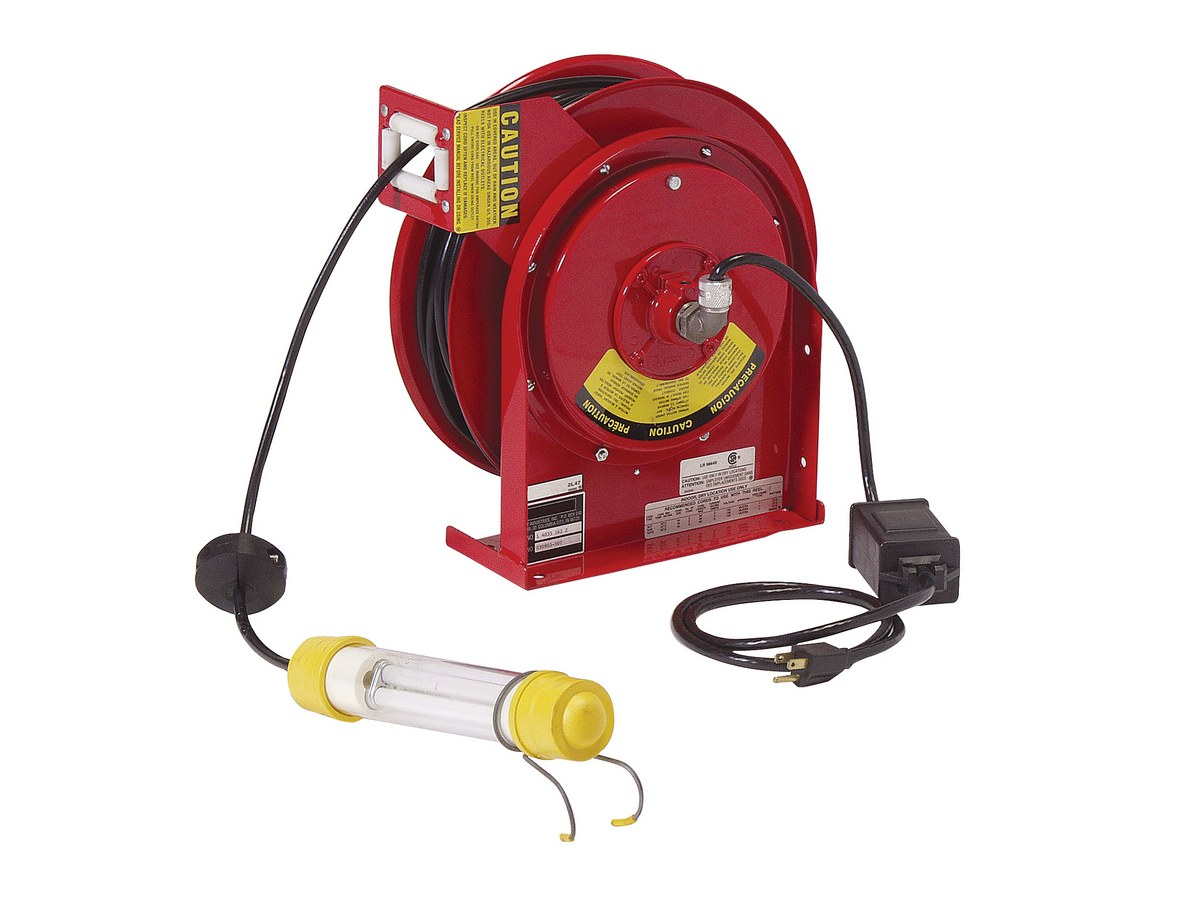 Vestil FWLCR-20-18 Retractable Cord Reels with Work Lights