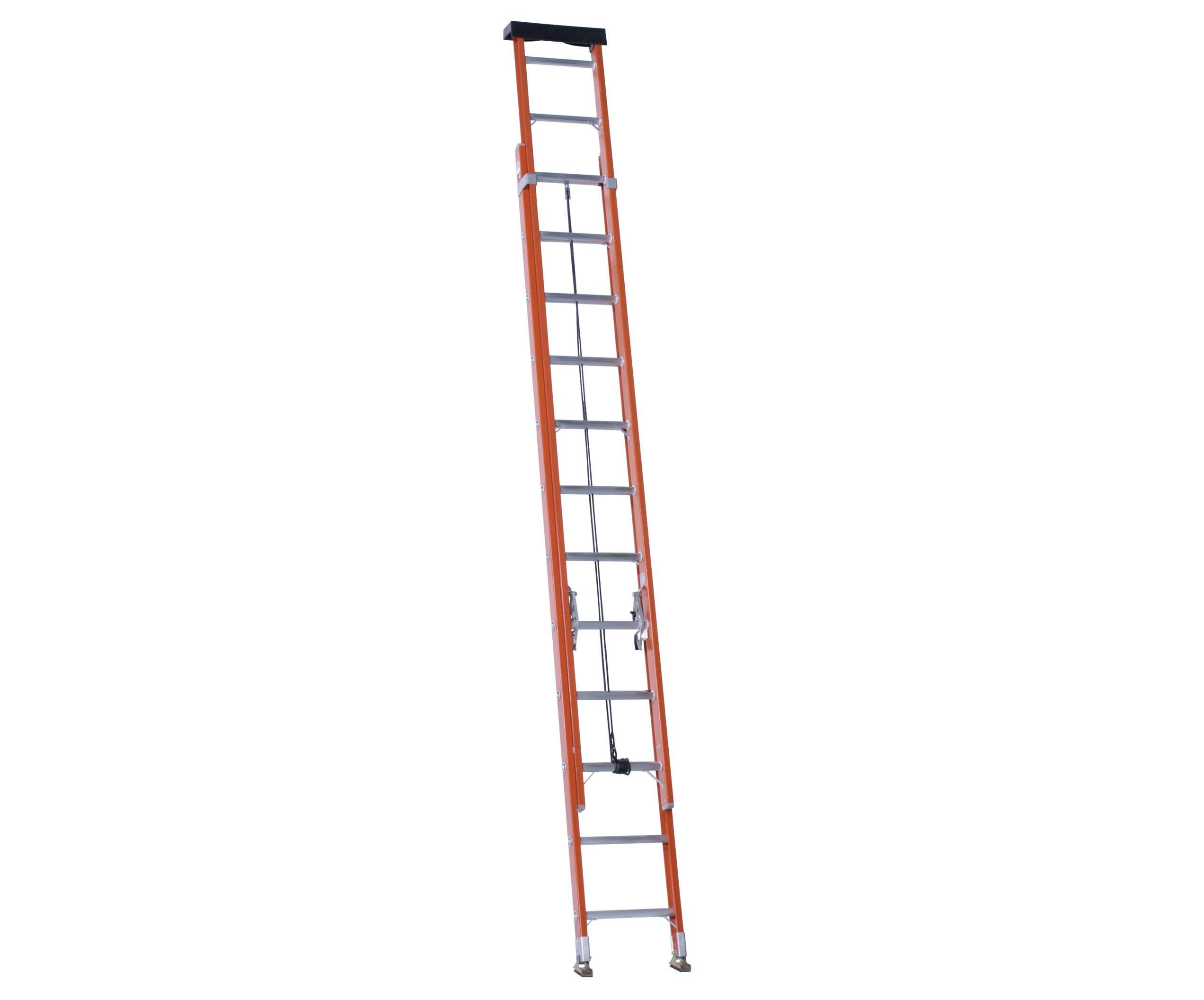 Vestil Fiberglass Extension Ladders with Aluminum Rungs