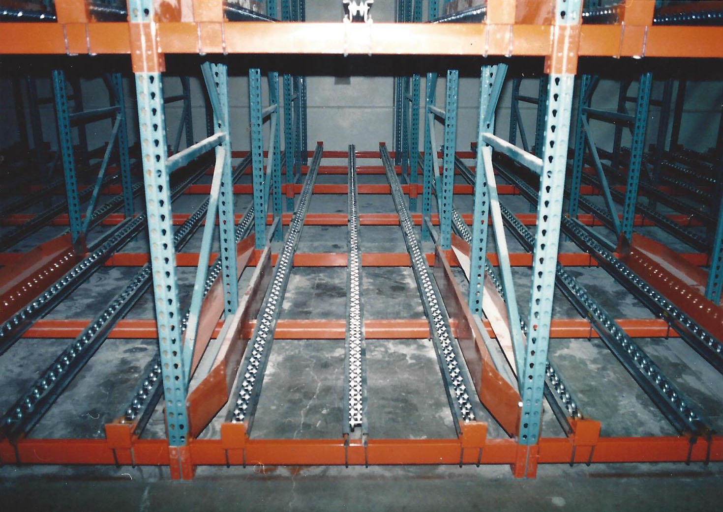 Five Deep Pallet Flow Rack System
