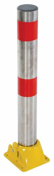 Vestil Fold Down Bollard Model No. PARK-P-108-FD-SS