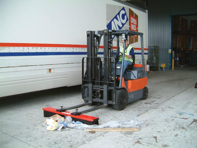 Vestil VSWP-48 Fork Truck Mounted Brush Sweeper
