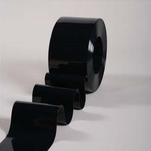 PVC Strip Bulk Rolls - Opaque Black