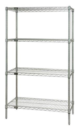 Quantum Genuine Wire Shelving Chrome Starter Kit - 4 Shelves 54 inch High