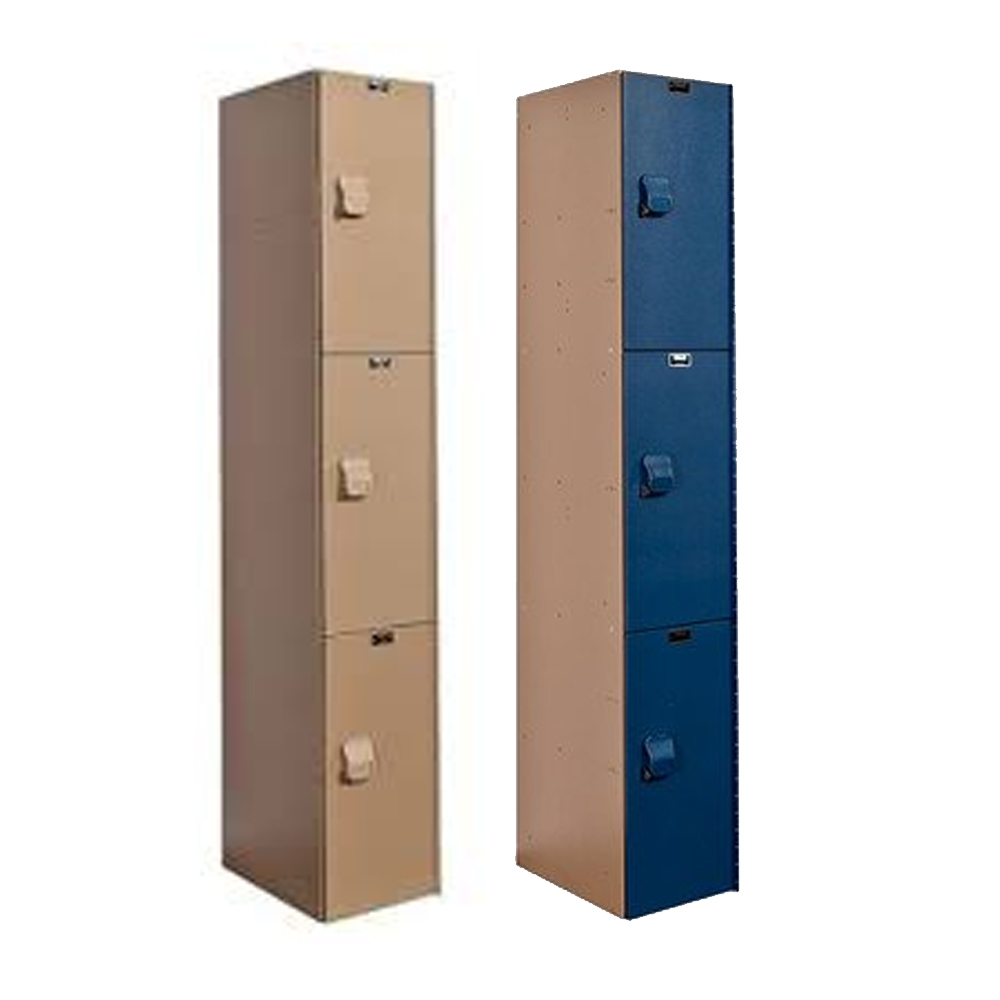 Hallowell Triple Tier AquaMax Solid Plastic Lockers
