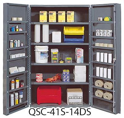 "48"" Wide Heavy-Duty All-Welded Bin Cabinets - Complete Packages QSC-41S-14DS"