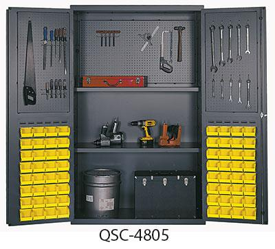 "Quantum 48"" Wide Heavy-Duty All-Welded Bin Cabinets - Complete Packages QSC-4805"