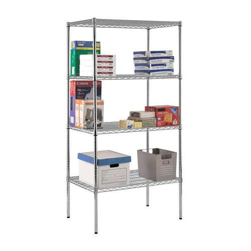 Sandusky Heavy-Duty Chrome Wire Shelving