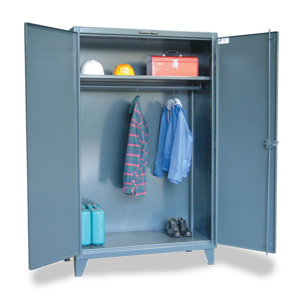 Industrial Uniform Cabinet with Full-Width Hanging Rod