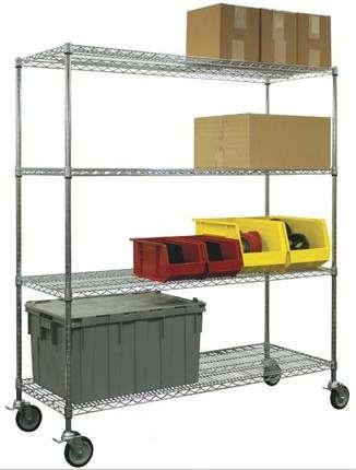 Jaken Mobile Chrome Wire Shelving