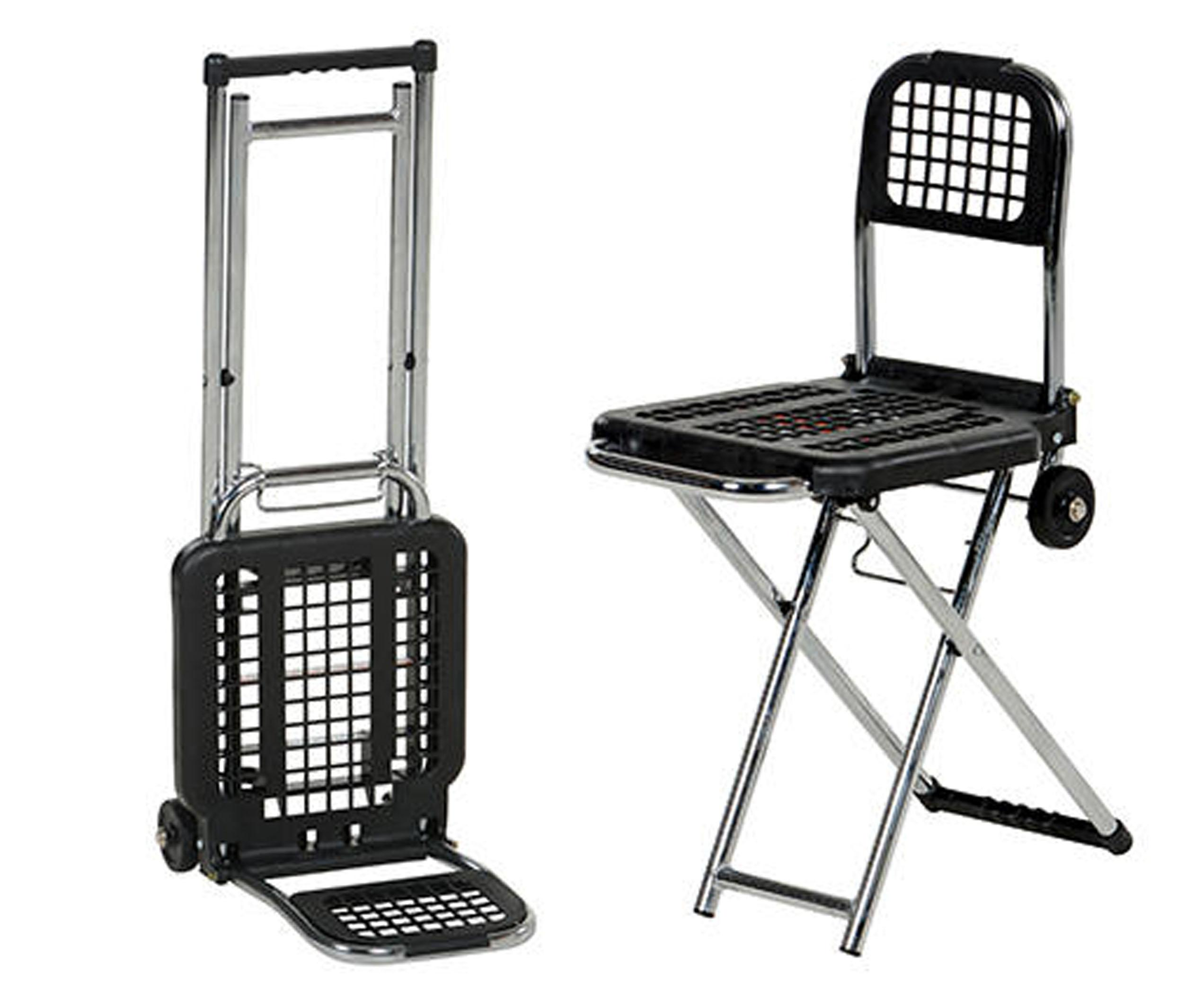 Vestil Multi-Function Luggage Cart Chair