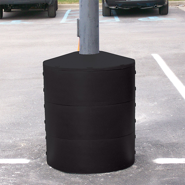 Vestil LPBP-24-BK Black Light Pole Base Protectors