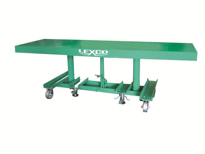 Lexco Long Deck Lift Tables - 2000 lb Capacity