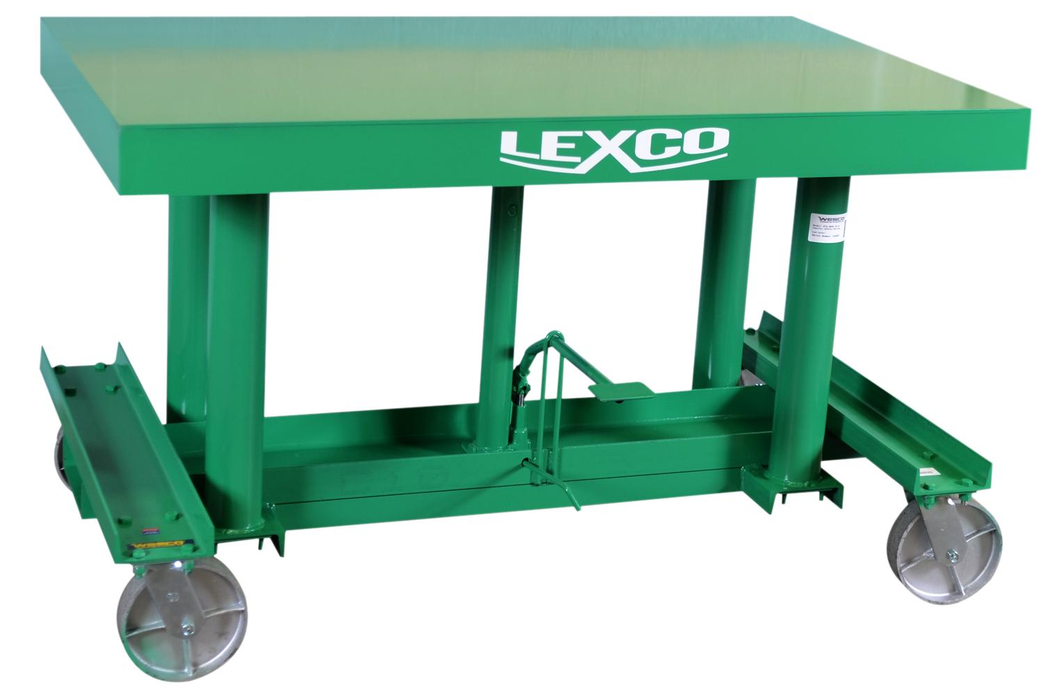 Lexco Long Deck Lift Tables - 3000 lb Capacity