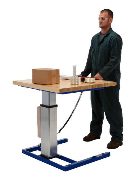 Vestil Linear Actuated Adjustable-Height Work Bench Model No. LAW-3636