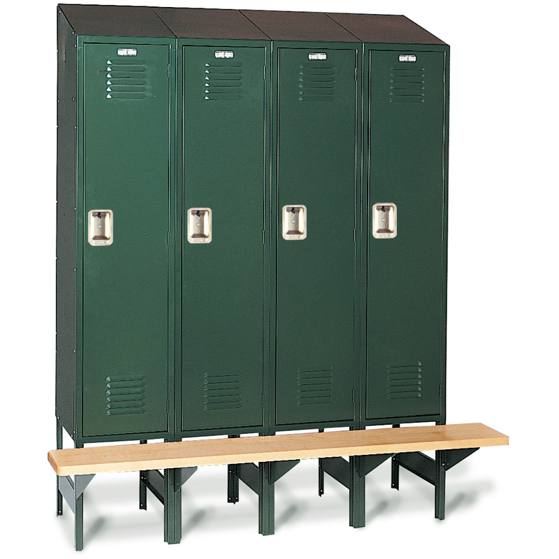 Lockers with Built-in Bench