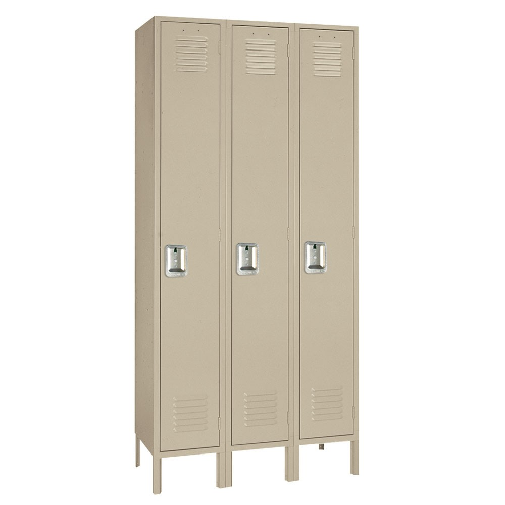"Lyon Standard Single Tier Steel Lockers - 15"" x 18"" x 78"""