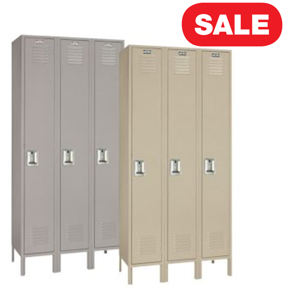 "Lyon 50123 Standard Single Tier Steel Locker 3 Wide 12"" x 15"" x 66"""