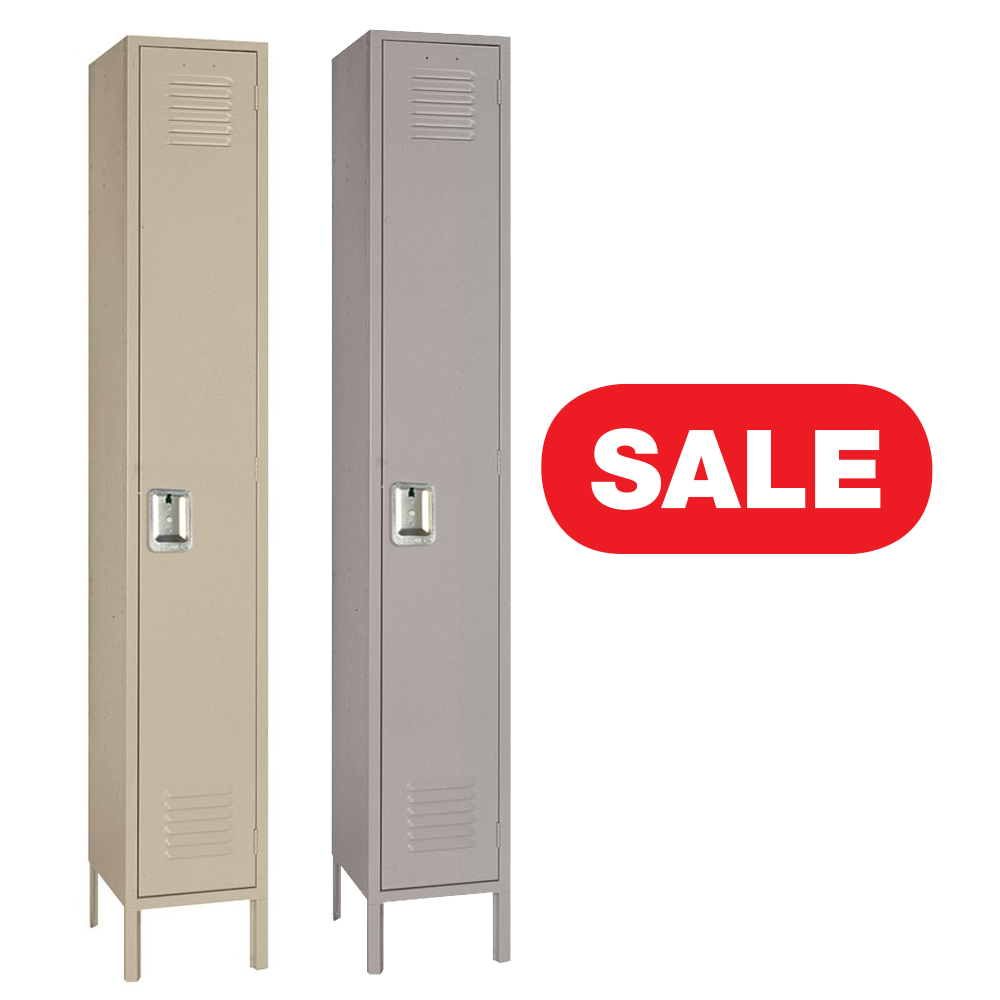 "Lyon 5002 Standard Single Tier Steel Locker 1 Wide 12"" x 12"" x 66"""