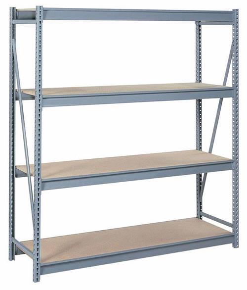 Lyon Bulk Storage Racks - 96 Inch Wide - Particle Board Decking
