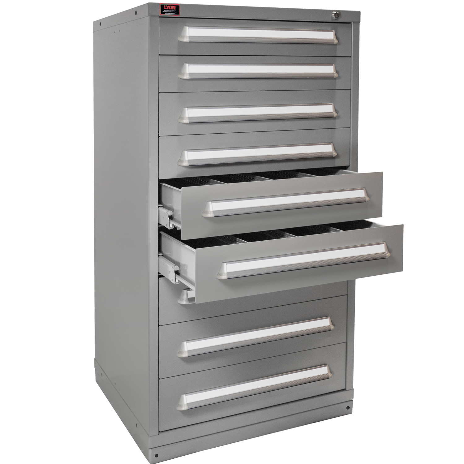 Quick Ship Modular Drawer Cabinet 9 Drawers with 144 Compartments
