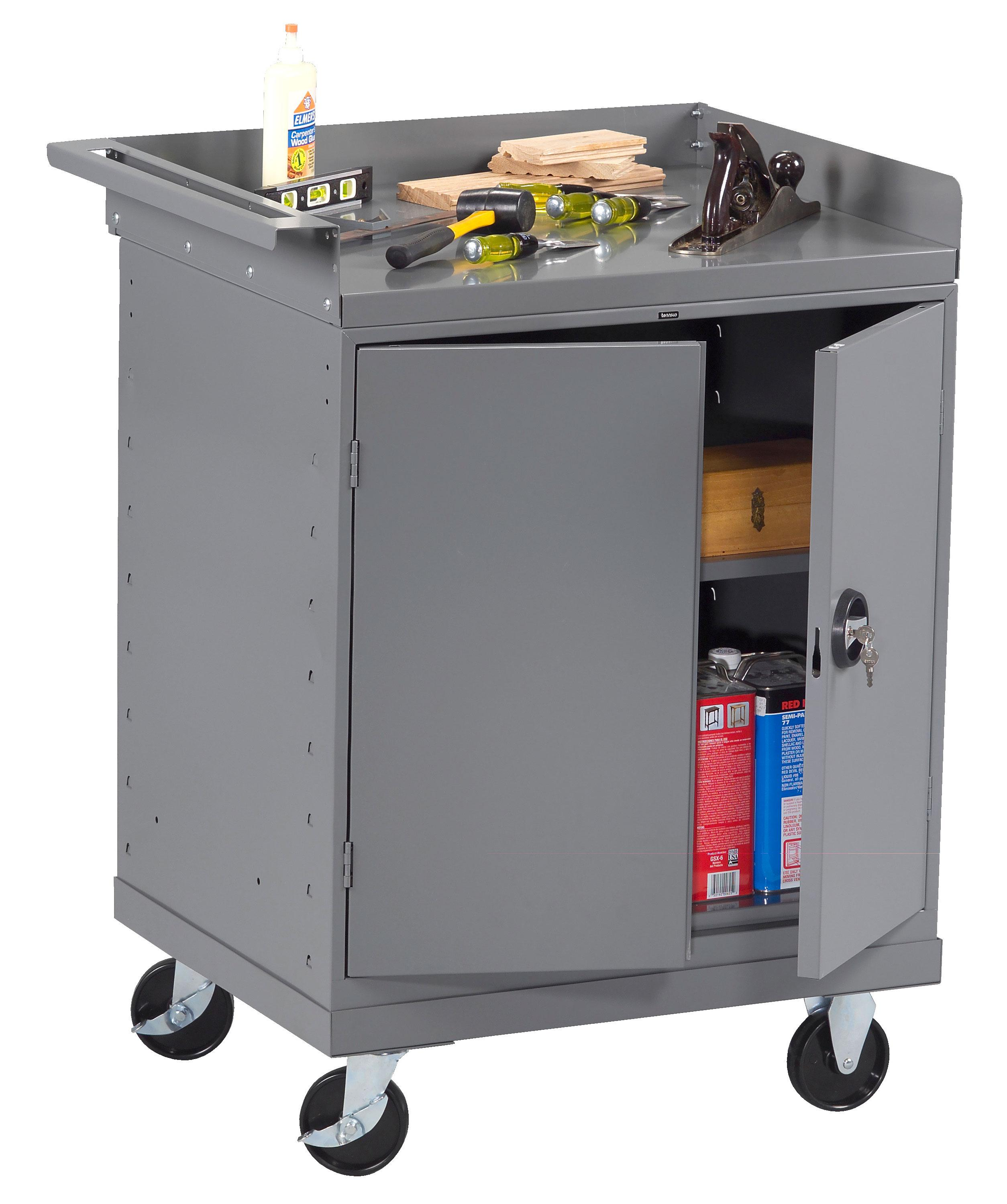 Tennsco MB-2530-C Mobile Workbench with 2 Door Cabinet